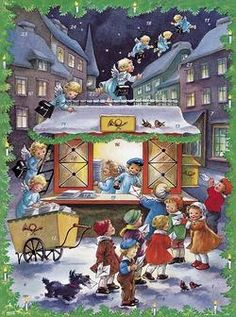 'The Angels' Christmas Post Office' Advent Calendar Christmas Post, Very Merry Christmas, Christmas Shopping, Christmas Cards, Advent Calendars, Winter's Tale, Angel S, Vintage Ornaments, Happiness