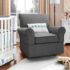Baby Relax Mackenzie Rocker, Gray $249 but a bit darker gray than we'd like