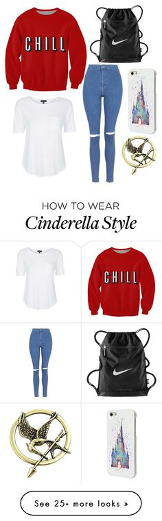 """""""Swimming Club"""" by fashionova1 on Polyvore featuring Topshop, NIKE and Disney"""
