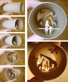 french artist fits mini paper figurines into toilet rolls