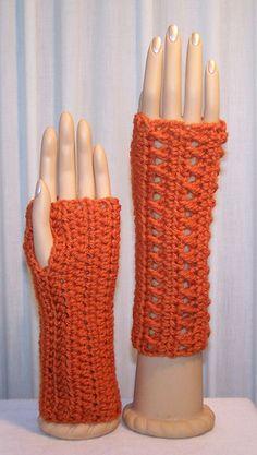 Crochet Patrón libre guantes fingerless
