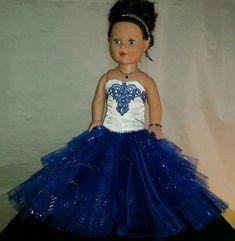 Saphhire blauen Ballkleid für Ihre American von NormasSpecialDays