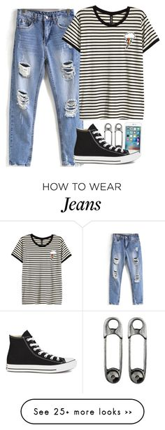 """""""every day look"""" by fungirl1forlife on Polyvore featuring mode, H&M et Converse"""