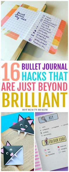 Take your bullet journal to another level with these diy bullet journal ideas that actually work. These hacks are perfect for easy productivity, time management and elevating your organization game with so many different layouts. Click pin for tips and inspiration! via @dajih