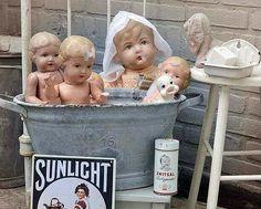 Bath Day in the Nursery