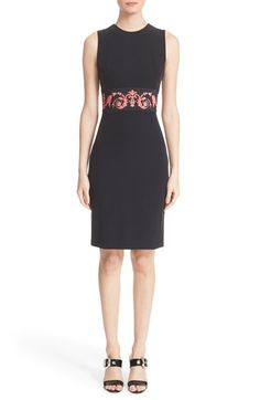 Versace Collection Print Waist Sheath Dress available at #Nordstrom