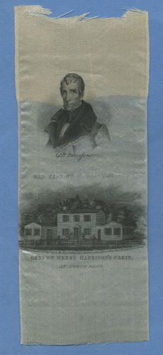 1840 President William Henry Harrison and Cabin Silk Ribbon 172 Years Old RARE | eBay