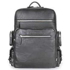 Faux Leather Backpack College Laptop Backpacks Men School Bag Herz 716 8e69324680