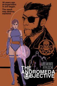Psylocke & Wolverine by Phil Noto