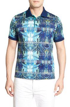 619d0753f8d Bugatchi Print Jersey Polo Polo Fashion