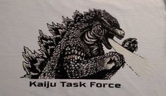 Glow in the Dark Godzilla T-Shirt Kaiju Task Force adult medium #Gildan #BasicTee