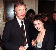 July 28, 1997 -- Alan Rickman & Helena Bonham Carter at a party.