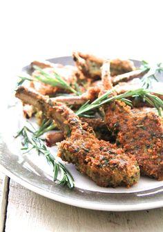 Parmesan and Herb-Crusted Lamb Chops