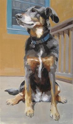 """Daily Paintworks - """"Athena Sitting"""" by Robin Rosenthal"""