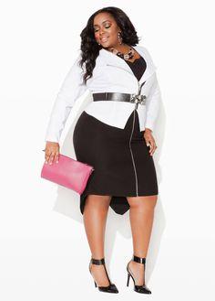 Ashley stewart smokin' hot curvy girl fashion, plus fashion, womens fashion, black Curvy Women Fashion, Unique Fashion, Plus Size Fashion, Womens Fashion, Fashion Fashion, Fashion Black, Fashion Ideas, Classic Fashion, Fashion Styles