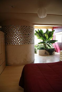 Jacobsen Earthship bamboo floor by Earthship Kirsten, via Flickr