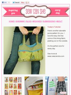 Check out this Mad Mimi newsletter Diy Clothes Accessories, Purse Patterns, Crafts To Do, Purses And Bags, Totes, Mad, Tote Bag, Sewing, Check