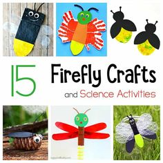 Firefly crafts and science activities for kids: lightning bug crafts for summer- including STEM / STEAM ideas! Science Activities For Kids, Diy Crafts For Kids, Preschool Activities, Art For Kids, Arts And Crafts, Preschool Lessons, Science Ideas, Book Crafts, Craft Ideas