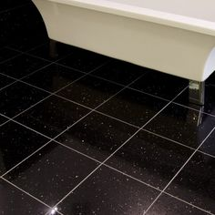 Lovely Gemstone Black Wall And Floor Tile   Black And White Bathroom Ideas   Black  Sparkle Tiles   Better Bathrooms | Black And White Bathroom Ideas |  Pinterest ... Nice Look