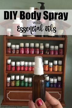 DIY Body Spray with Essential Oils http://www.mydoterra.com/grantshort/#/