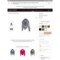 Les collections de Louis Vuitton : Châle Monogram Shine