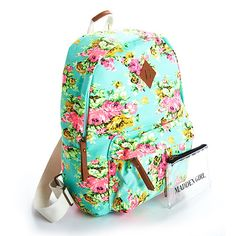 I got a book bag like this big it has white dots and a navy blue background with a patch that says that on it