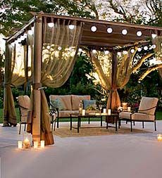Pergola With Retractable Roof - Plow & Hearth
