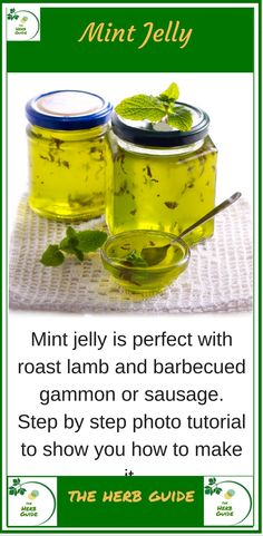 The perfect accompniament to lamb, apple mint jelly. Step by step instructions with photos to guide you through the process. It's easy Mint Recipes, Jelly Recipes, Lamb Recipes, Apple Recipes, Apple Mint Jelly Recipe, Apple Jelly, Mint Jelly For Lamb, Jam And Jelly, Freezer Jam Recipes