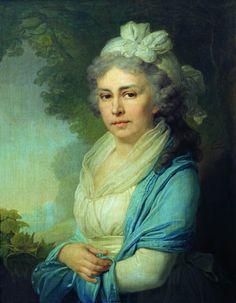 1798 The Athenaeum - Portrait of E.I. Neklyudova (Vladimir Borovikovsky - )