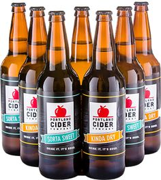 Kinda Dry Traditional English cider is dry, lightly carbonated, has very subtle apple flavors, and a lingering fresh finish.