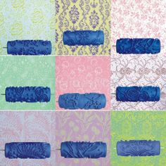 15cm DIY Wall Decoration Empaistic Flower Texture Painting Roller /Paint Machine