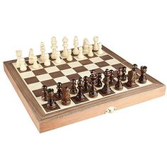 """Chess Set 12\""""x12\"""" Folding Wooden Standard Travel International Chess Game Board Set with Magnetic Crafted Pieces *** See this great product."""