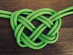 Learn How to Make a  DIY Celtic Heart Knot with Shoelaces or Parachute Cord