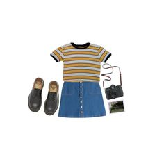 """""""wishing it was summer"""" by ihatepe0ple ❤ liked on Polyvore featuring HUGO, Madewell, Polaroid and Dr. Martens"""