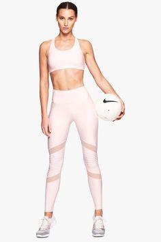 Nimble Activewear Criss Cross Sports Bra Pale Pink