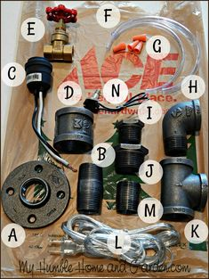 How To Create Your Own AMAZING Industrial Pipe Lamp on MyHumbleHomeandGarden.com