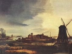 'Landscape with Windmill.' 1646.
