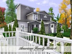 American Family cozy and lovely home 6 by Pralinesims - Sims 3 Downloads CC Caboodle
