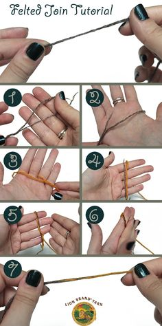 How to Felted Join Yarn Ends. Avoid weaving in your ends! #tutorial #yarn #wool