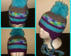 Crochet RACE CAR HAT with earflaps by SimplySophistiKated on Etsy