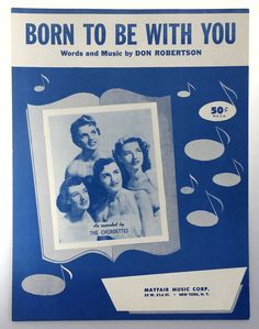 Vintage Sheet Music Born to Be With You by WeStartedWithAMouse