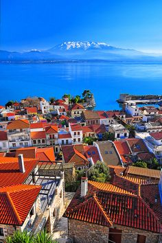 The endlessly beautiful hues of Navpaktos, Dytiki, Ellada, Greece. #travel #sea #ocean #landscape #cityscape #Greece