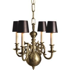 Visual Comfort E.F. Chapman 18th Century Small Chandelier in Antique Nickel CHC1115AN