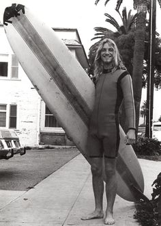 1970's - taped up surf board - Vintage 70s Venice beach surfer Byron - surfer dude