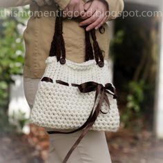 Loom Knit Handbag/Purse Pattern.  Easy and Cute!