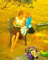 The Question by David Hettinger Oil ~ 24 in x 20 in