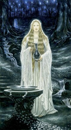 "Middle-earth: ""Galadriel,"" by Matt Stewart. Image Cinema, Celtic Mythology, Mystique, Jrr Tolkien, Wow Art, Divine Feminine, Gods And Goddesses, Middle Earth, Lord Of The Rings"