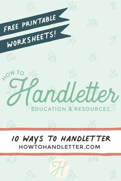 Ready to handletter with me? Let's do this! 10 new and exciting ways to handletter the word: Thank you! #brushcalligraphy #letteringaddict #lettering #letteringlove #handlettering Hand Lettering Quotes, Cool Lettering, Lettering Styles, Brush Lettering, Calligraphy For Beginners, Calligraphy Tutorial, Lettering Tutorial, Beautiful Lettering, Free Worksheets