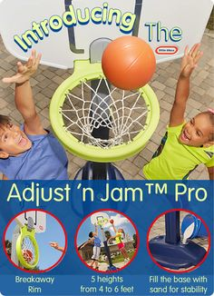 Introducing the latest edition to the Little Tikes basketball family, Adjust n Jam Pro