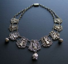 chinese silver wedding necklace #Wedding #Necklace